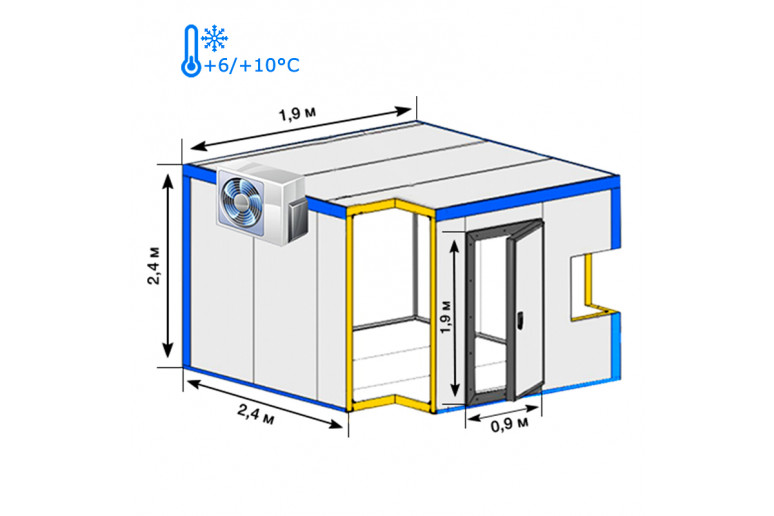 Холодильная камера хранения  ( +6…+10°С) Испания, Украина